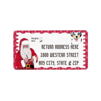 Australian Shepherd Christmas Address Label