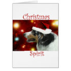 Australian Shepherd Christmas Spirit Card