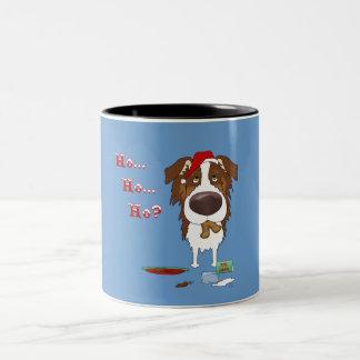 Australian Shepherd Christmas Two-Tone Coffee Mug
