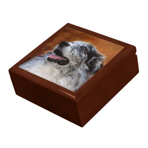 Australian Shepherd Classic Tile Keepsake Box