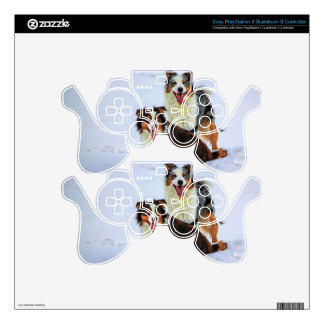 Australian shepherd couple dogs PS3 controller decal