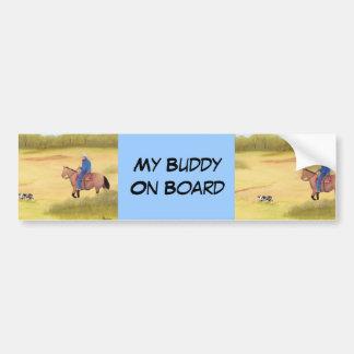 Australian Shepherd ~ Cowboy ~ Morning Ride Bumper Sticker