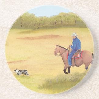 Australian Shepherd ~ Cowboy ~ Morning Ride Drink Coaster