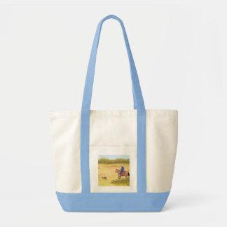 Australian Shepherd ~ Cowboy ~ Morning Ride Tote Bag