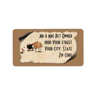Australian Shepherd Cowdog Address Label
