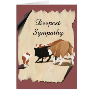 Australian Shepherd Cowdog Sympathy Pet Loss Card