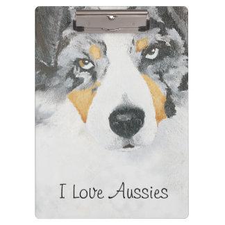 Australian Shepherd Custom Clipboard