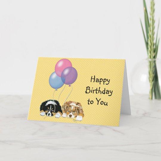 Australian Shepherd Custom Happy Birthday Card Zazzle