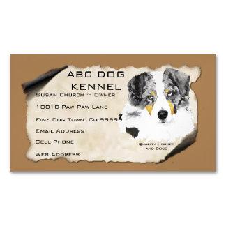 Australian Shepherd Custom Magnetic Business Card