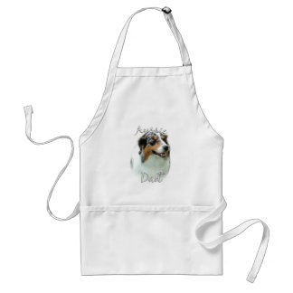 Australian Shepherd Dad 2 Adult Apron