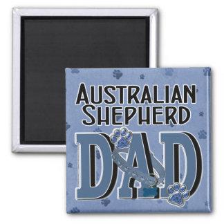 Australian Shepherd DAD 2 Inch Square Magnet