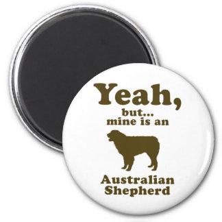 Australian Shepherd Dog 2 Inch Round Magnet