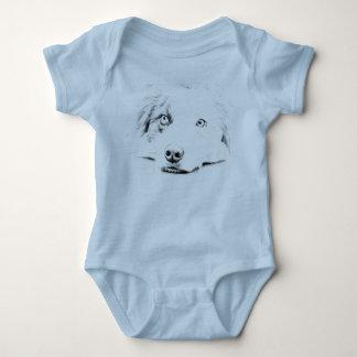 Australian Shepherd dog art Baby Bodysuit