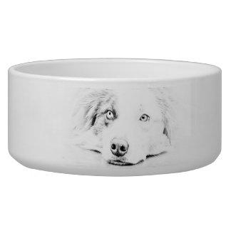 Australian Shepherd dog art Bowl