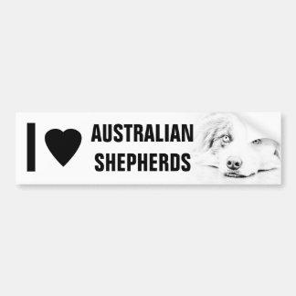 Australian Shepherd dog art Bumper Stickers