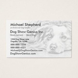 Australian Shepherd dog art Business Card