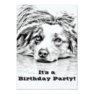Australian Shepherd dog art Card