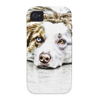Australian Shepherd dog art iPhone 4/4S Cases