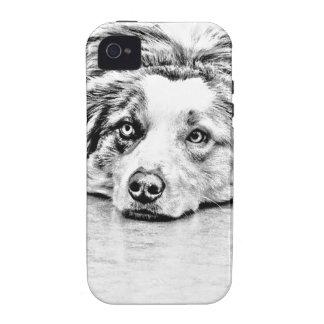 Australian Shepherd dog art iPhone 4/4S Case