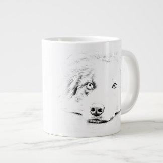 Australian Shepherd dog art Large Coffee Mug
