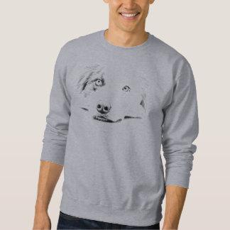 Australian Shepherd dog art Pull Over Sweatshirts