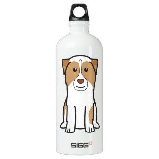 Australian Shepherd Dog Cartoon Aluminum Water Bottle