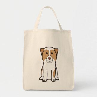 Australian Shepherd Dog Cartoon Tote Bags