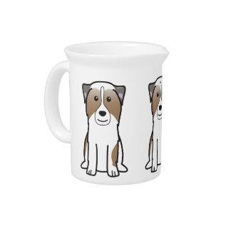 Australian Shepherd Dog Cartoon Drink Pitcher