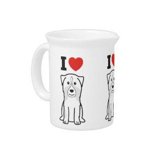 Australian Shepherd Dog Cartoon Drink Pitchers