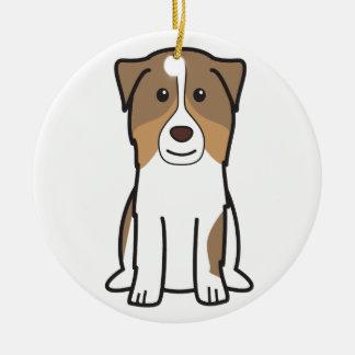 Australian Shepherd Dog Cartoon Christmas Tree Ornaments
