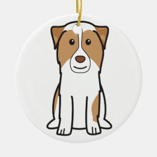 Australian Shepherd Dog Cartoon Ornament