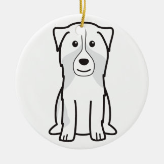 Australian Shepherd Dog Cartoon Christmas Tree Ornament