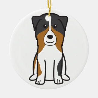 Australian Shepherd Dog Cartoon Ornaments