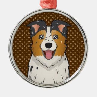 Australian Shepherd Dog Cartoon Paws Ornaments