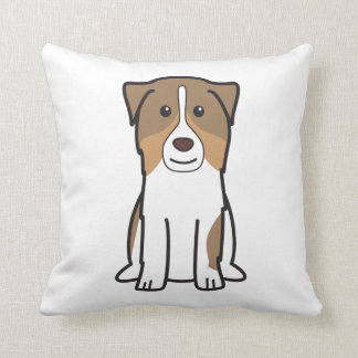 Australian Shepherd Dog Cartoon Pillow