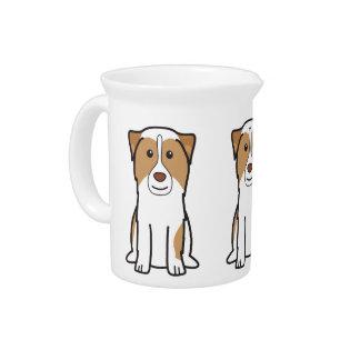 Australian Shepherd Dog Cartoon Pitchers