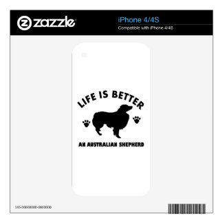 Australian Shepherd dog design Decal For The iPhone 4S
