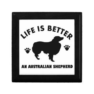 Australian Shepherd dog design Gift Box