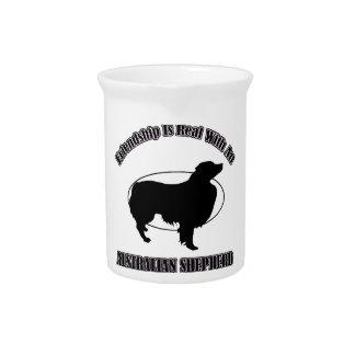 AUSTRALIAN SHEPHERD DOG DESIGNS DRINK PITCHERS