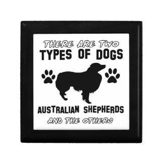australian shepherd dog designs gift boxes