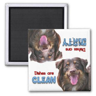 Australian Shepherd Dog Lovers Dishwasher Magnet