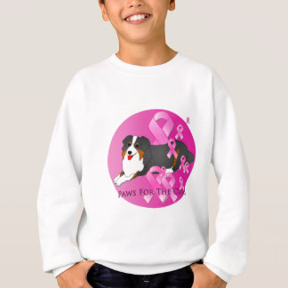 Australian Shepherd Dog Pink Ribbon Sweatshirt