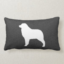 Australian Shepherd Dog Silhouette Lumbar Pillow