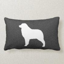 Australian Shepherd Dog Silhouette Lumbar Pillow