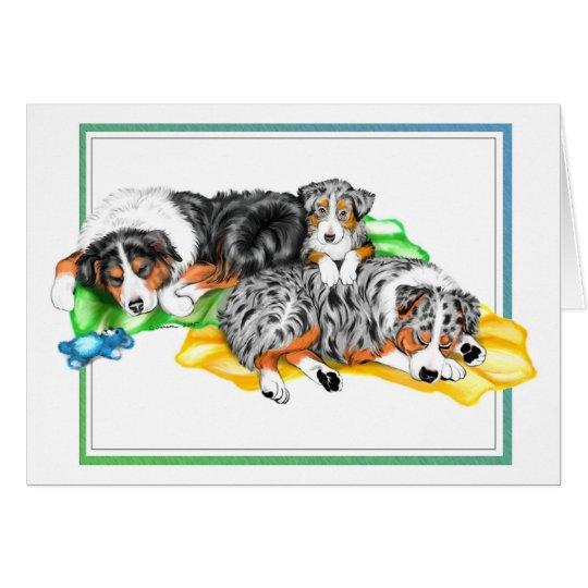 Australian Shepherd Family Nap Card