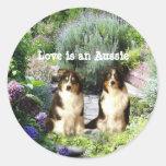 Australian Shepherd Garden Sticker