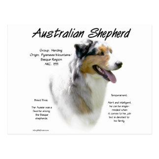 Australian Shepherd History Design Post Card
