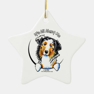 Australian Shepherd IAAM Ceramic Ornament