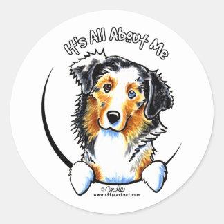 Australian Shepherd IAAM Classic Round Sticker