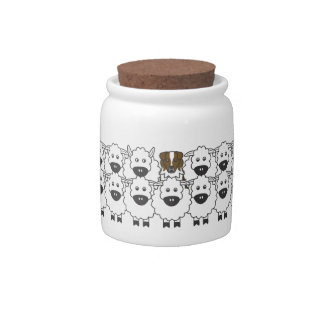 Australian Shepherd in the Sheep Candy Jar
